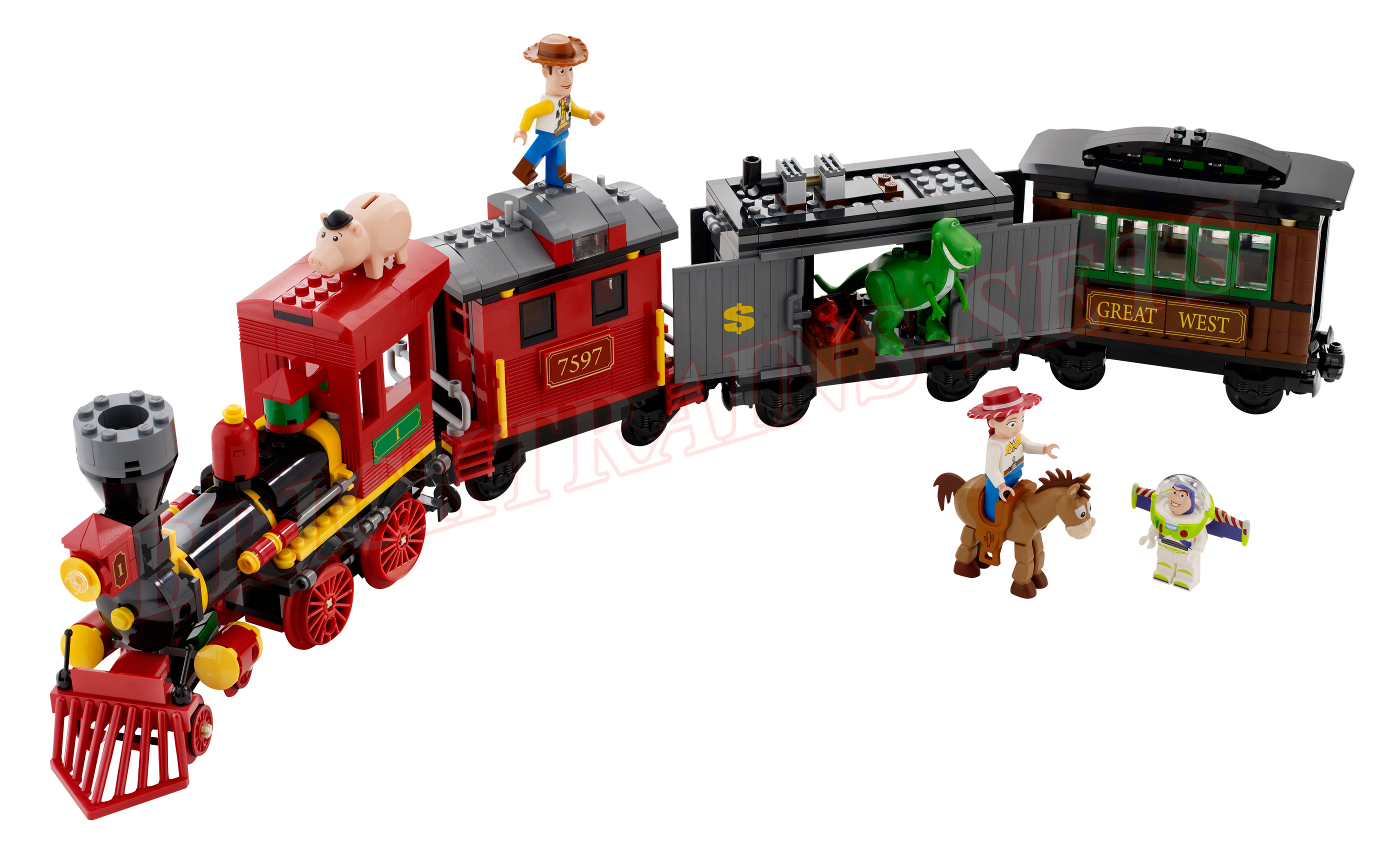 Lego Toy 3 : Lego toy story western train chase review brick