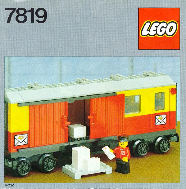 Lego 7819 Postal Container Wagon
